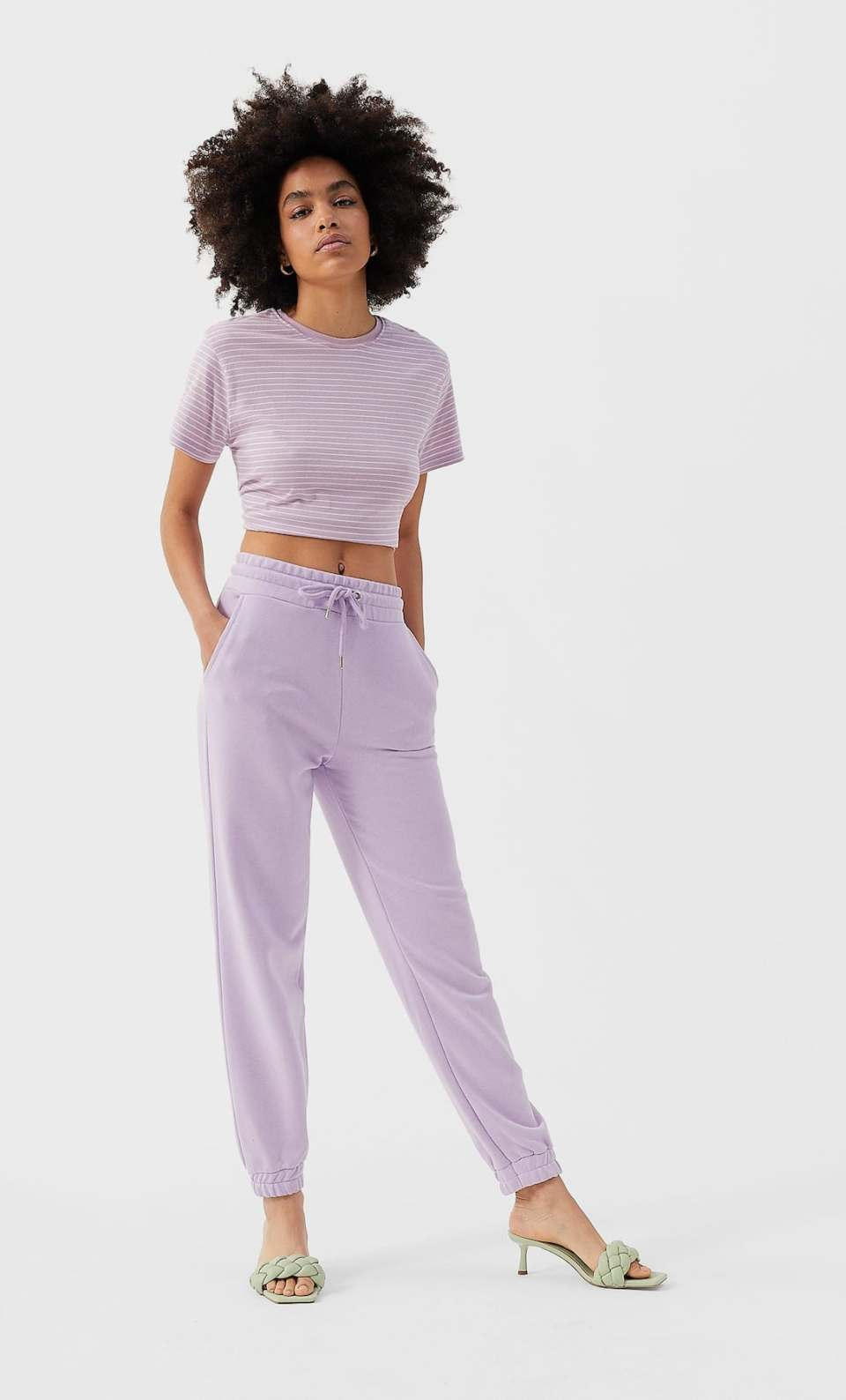 jogging mauve molleton
