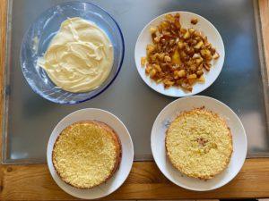 layer cake préparation montage