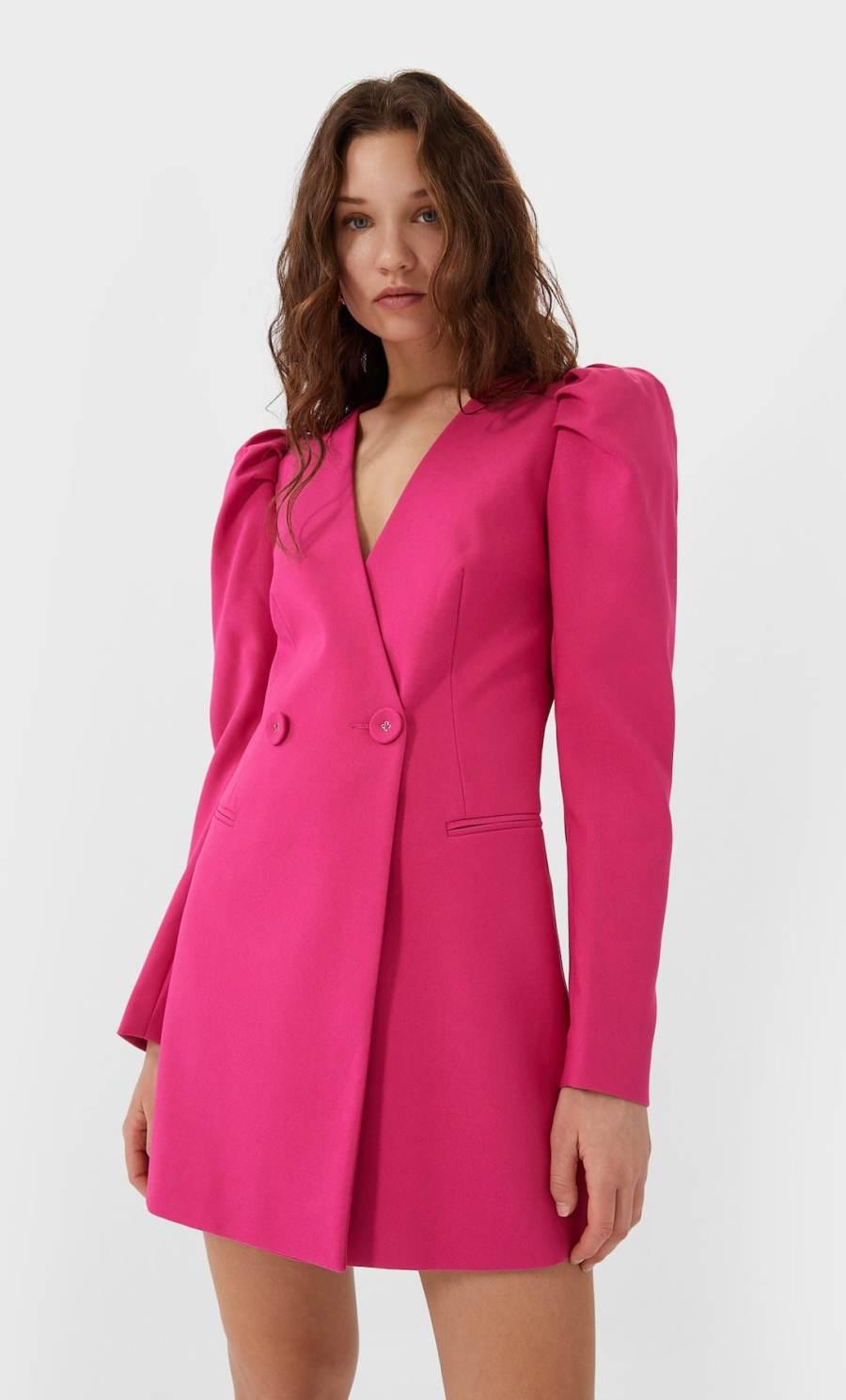 robe blazer rose
