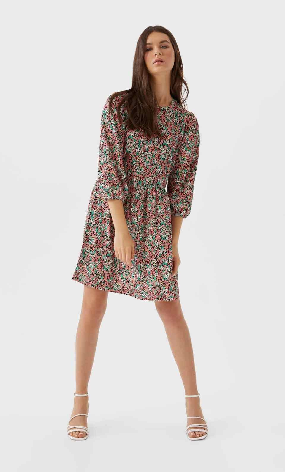 robe fleurie multicolor