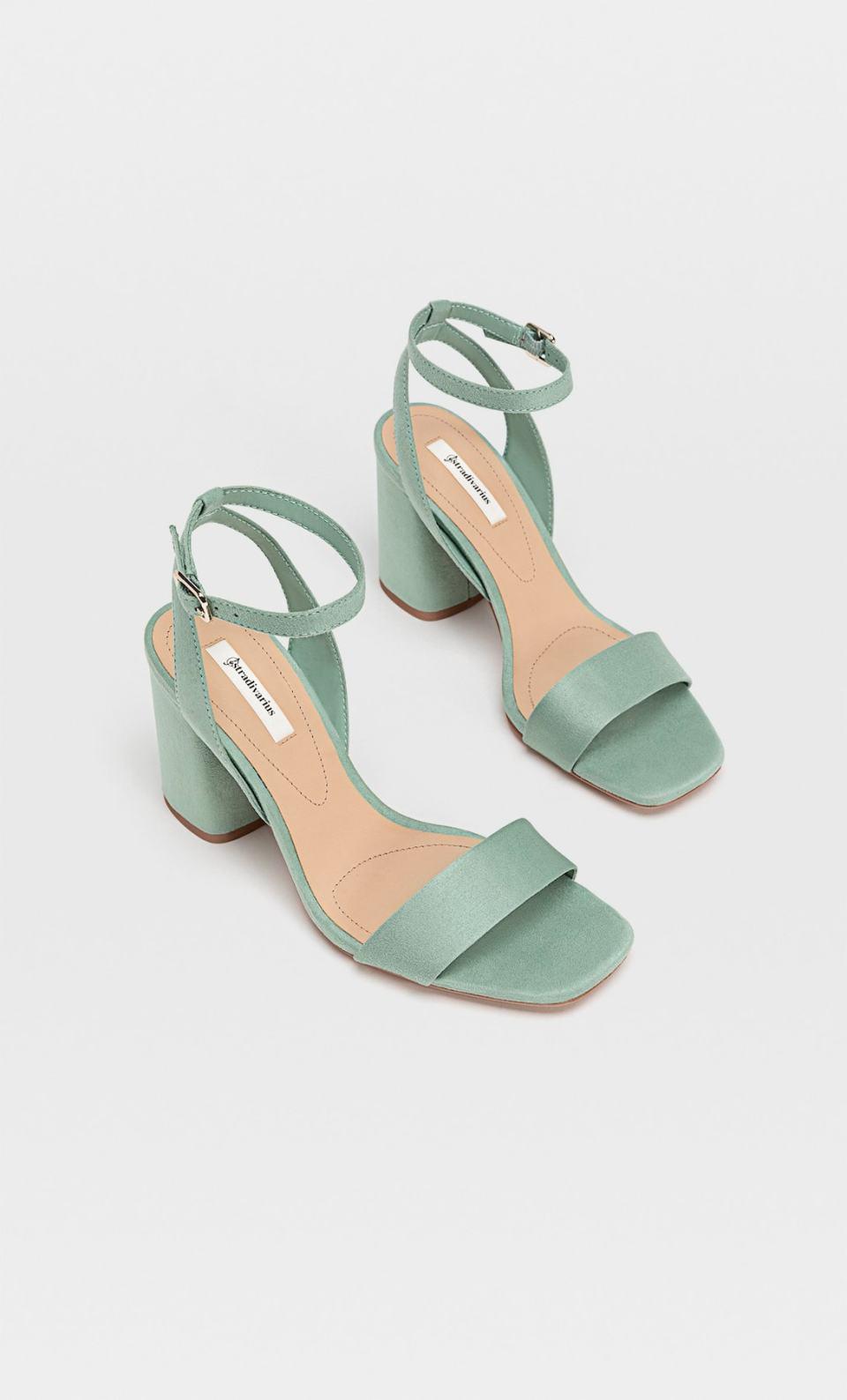 sandales vert d'eau à brides