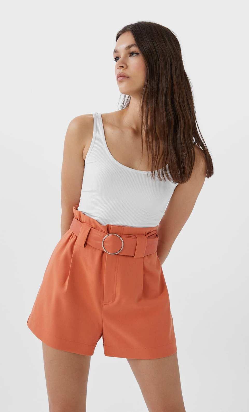 short habillé rouille
