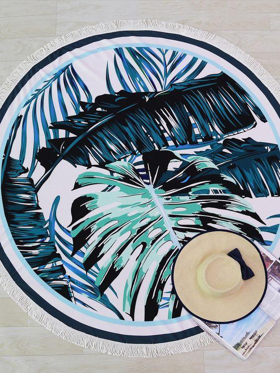 serviette-plage-palmier
