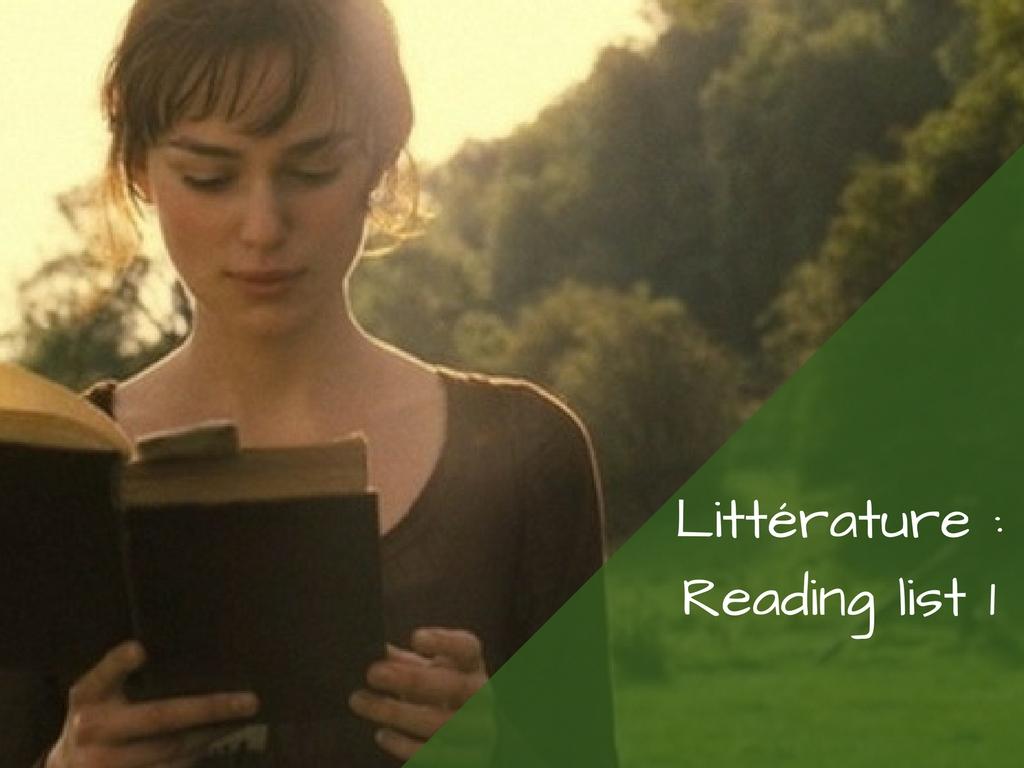 Ma Reading List #1