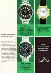 OMEGA, catalogue italien, 1964. Crédit : Neil Worboys.