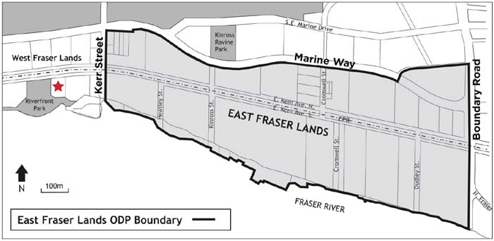 East Fraser Lands Official Development Plan (ODP) Boundary