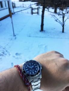 WatchBandit North Pacific Nautical Rope Bracelet Knoten-Armband rot Rolex Submariner