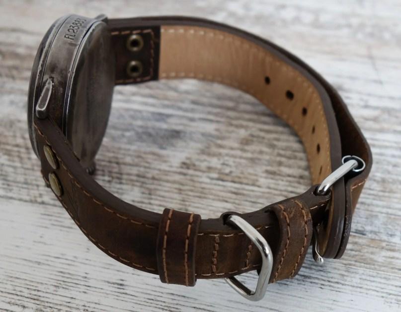Lacer Paderborn Erbstück Beobachtungsuhr Fliegeruhr B-Uhr B-Muster WWII Vintage Lederband
