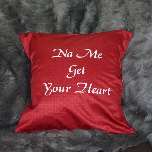 Red na me get your heart throw pillow Chronos stores dreamhome shop seller