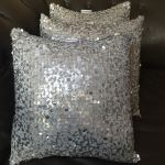 Silver Sequined Pillows by Dream Home Shop Gbemi Elekula