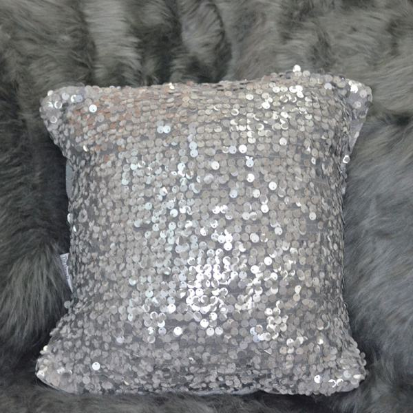 Silver Sequinthrow pillow Chronos stores dreamhome shop seller