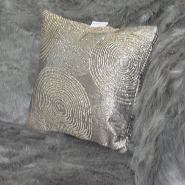 Silver throw pillow Chronos stores dreamhome shop seller
