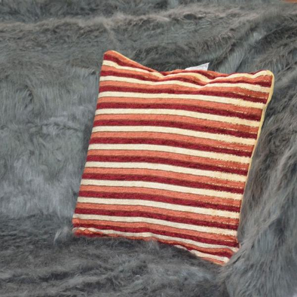 Striped orange and Maroon throw pillow Chronos stores dreamhome shop seller