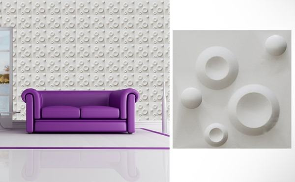 Spring 3D wall Panel 300×300mm sold by Demie-Quest