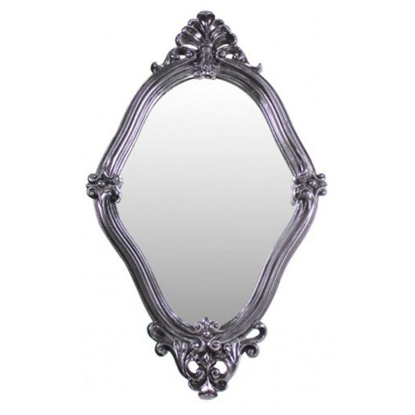 Black baroque wall mirror