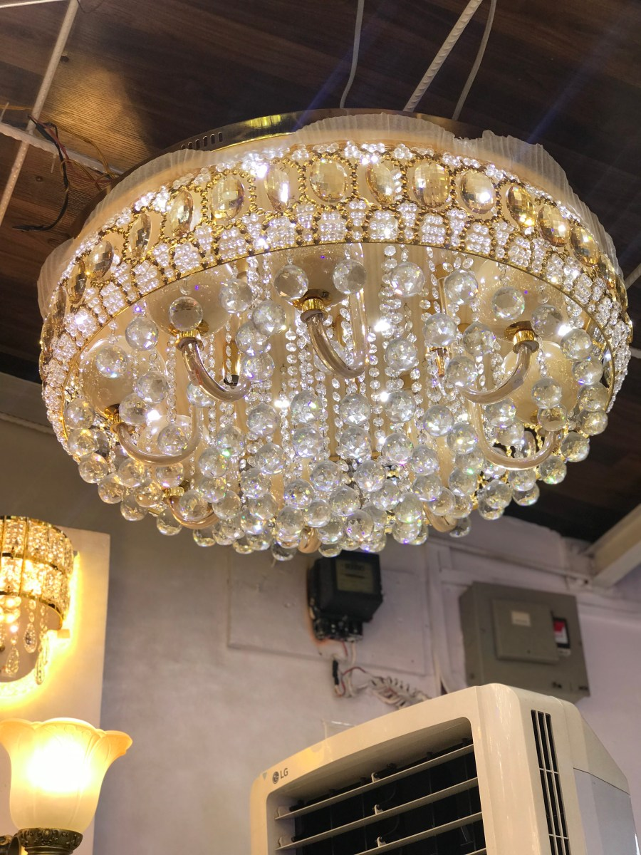 CRYSTAL FLUSHED CHANDELIER