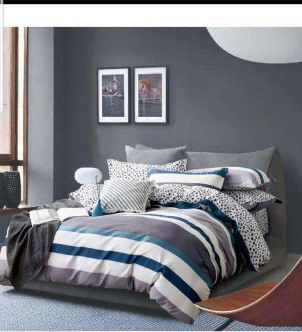 Colourful And 100% Cotton Bedsheets With Duvet I