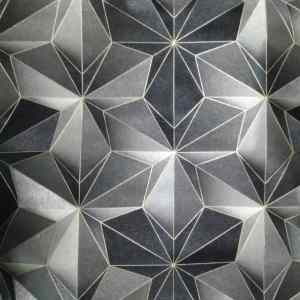 Black and Grey Starlike Patterned Wallpaper