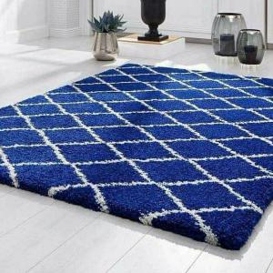 REMODEL BLUE GEO 'X' GLAM TURKISH RUG (8'×11')