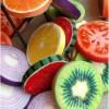 Throw Pillow - Fruit Slice Throw Pillow, Fruit Slice Cushion, Fruit design throw pillow