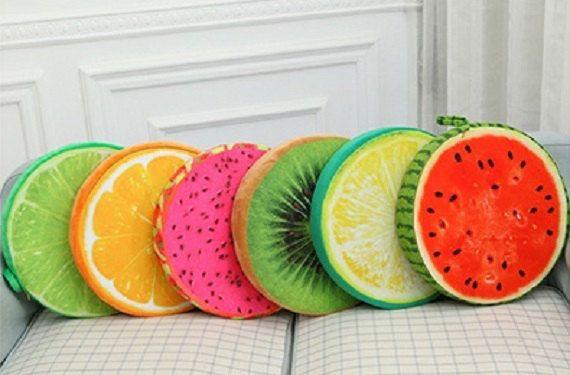 Throw Pillow - Fruit Slice Throw Pillow, Fruit Slice Cushion, Fruit design throw pillow, chronos stores