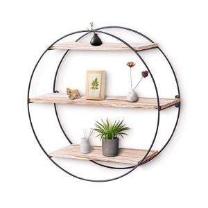 Circle Shelf Wall decor | Round Shelf wall decor | Round Hanging Shelf