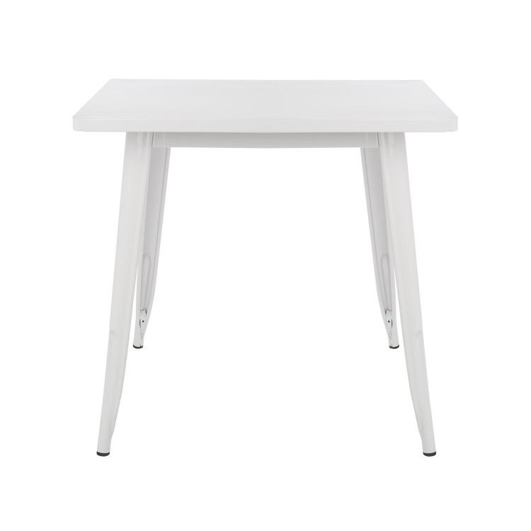 table haute 60x60cm industrielle metal bois naturel noir