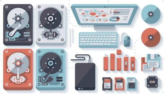 Graphic depicting different personal devices and storage media