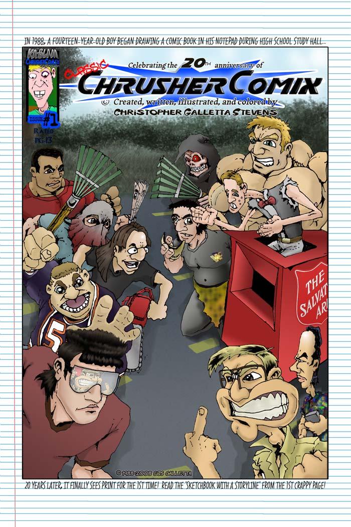 Crusher Comics #1 | Classic ChrusherComix Season One, Issue #1 (20th Anniversary Commemorative Cover – 1988-2008)