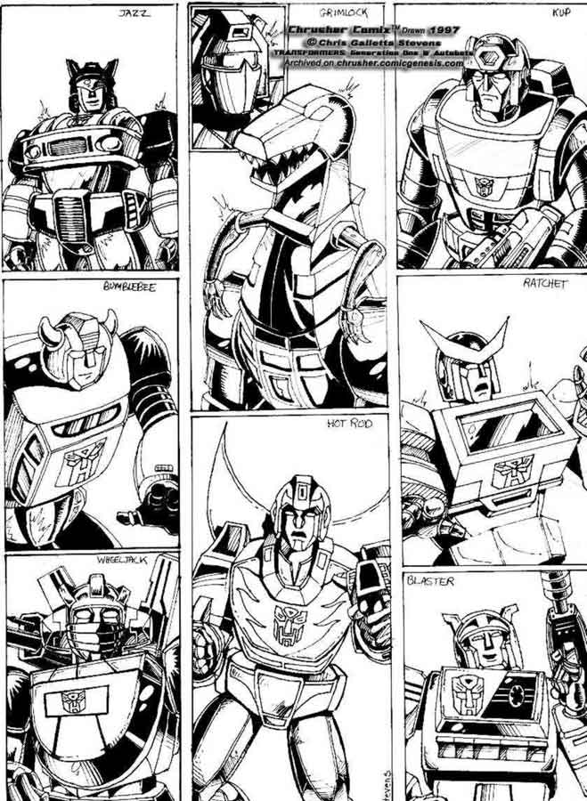 Transformers: Popular Autobots From G1 Cartoon (1993) | Chrusher Comix