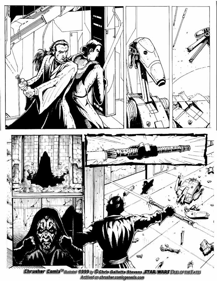 Star Wars: Lightsaber Duel w/ Darth Maul  Chrusher Comix (Page 1)