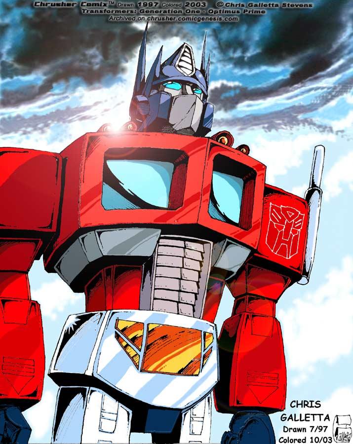 Transformers: G1 Cartoon Optimus Prime | Chrusher Comix