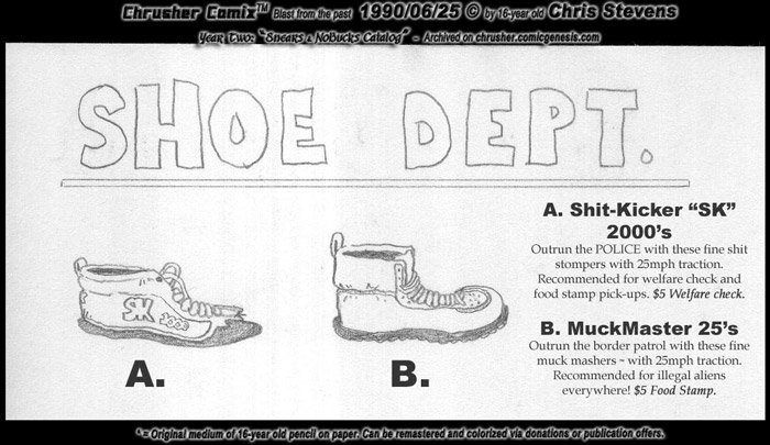 Shoe Department | Snears & Nobucks Catalog (1991)