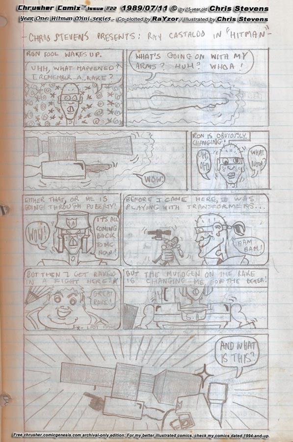Ron Foule… TRANSFORM!!! | Crusher Comics #9 (1989)