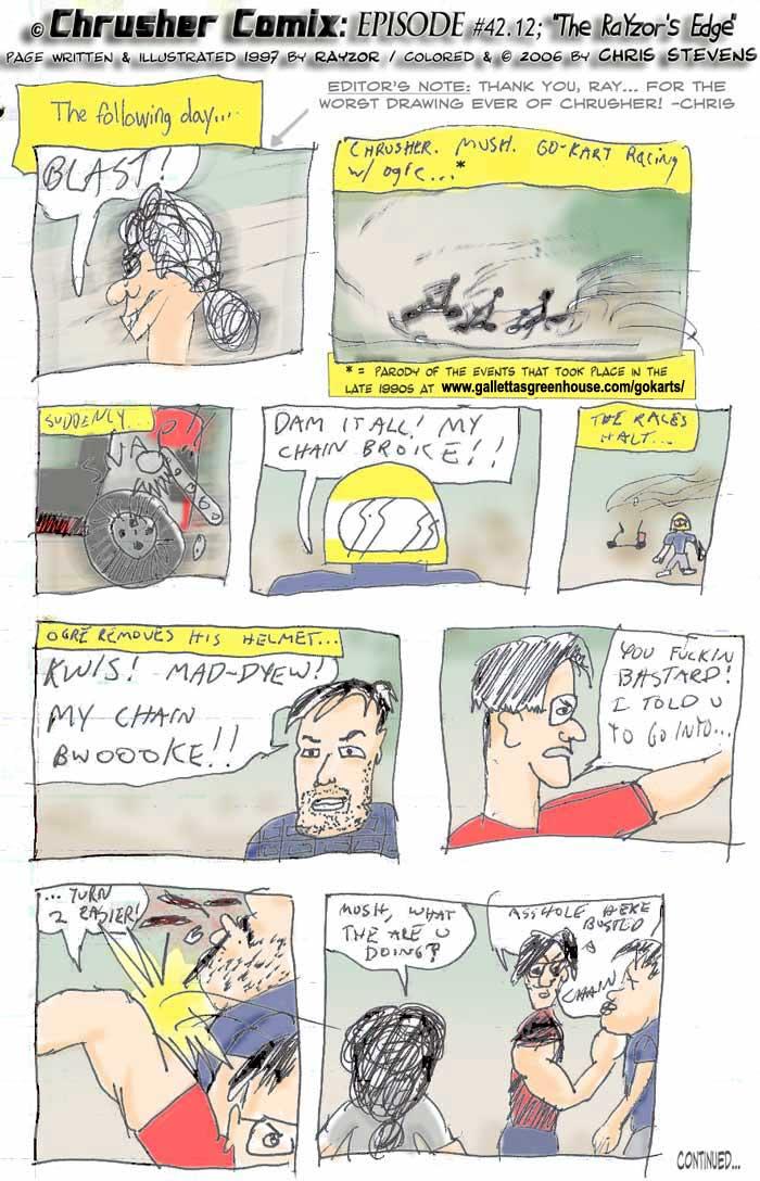 CANON FAN ART: Galletta's Go-Kart comic by RaYzor C. (1997)