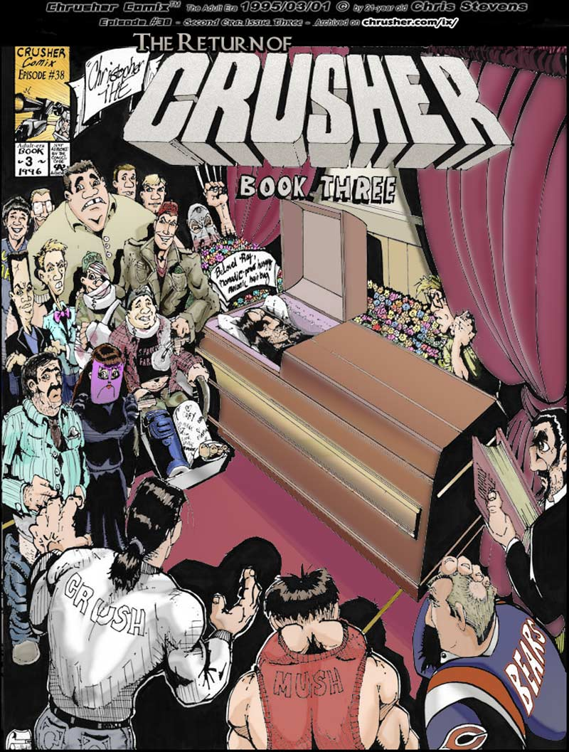 RaYzor's Funeral – Return of the Chrusher #3 cover (1996)