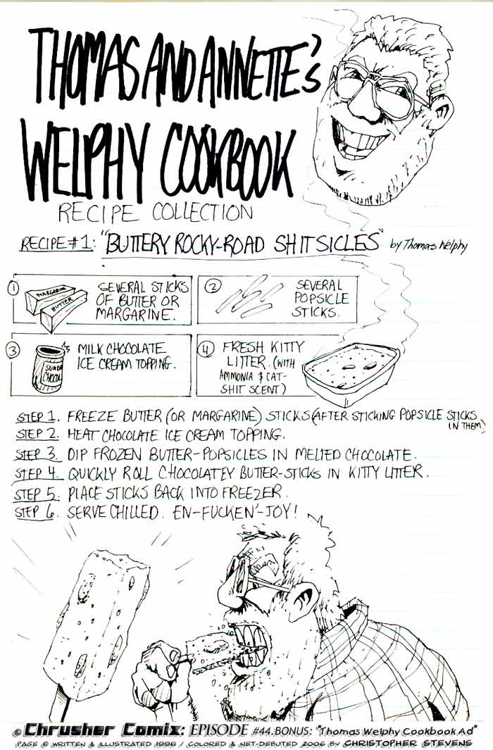 Welphy Cookbook Buttery Rocky Road Shitcicles