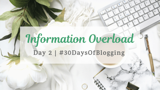 Information Overload | Day 2 of 30 Days of Blogging
