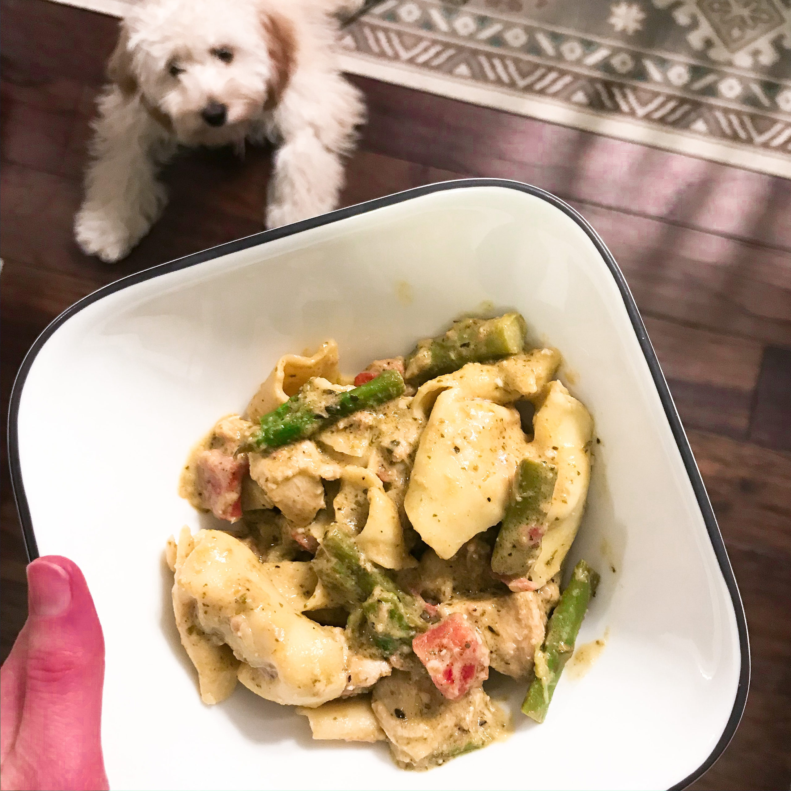 Instant Pot Creamy Pesto Chicken Tortellini