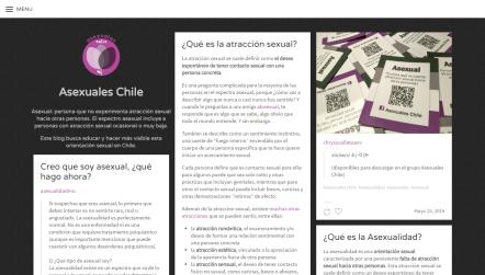 Captura de pantalla del tumblr de Asexuales Chile a mayo de 2016
