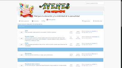 Captura de pantalla del foro antiguo de AVENes en 2015