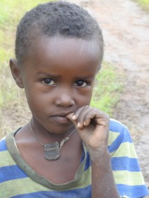 Boy with amulet