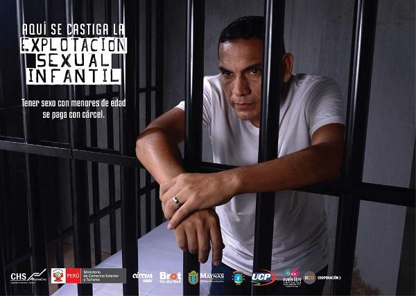 Campaña Cárcel: Contra la explotación sexual de niñas, niños y adolescentes en el ámbito del turismo