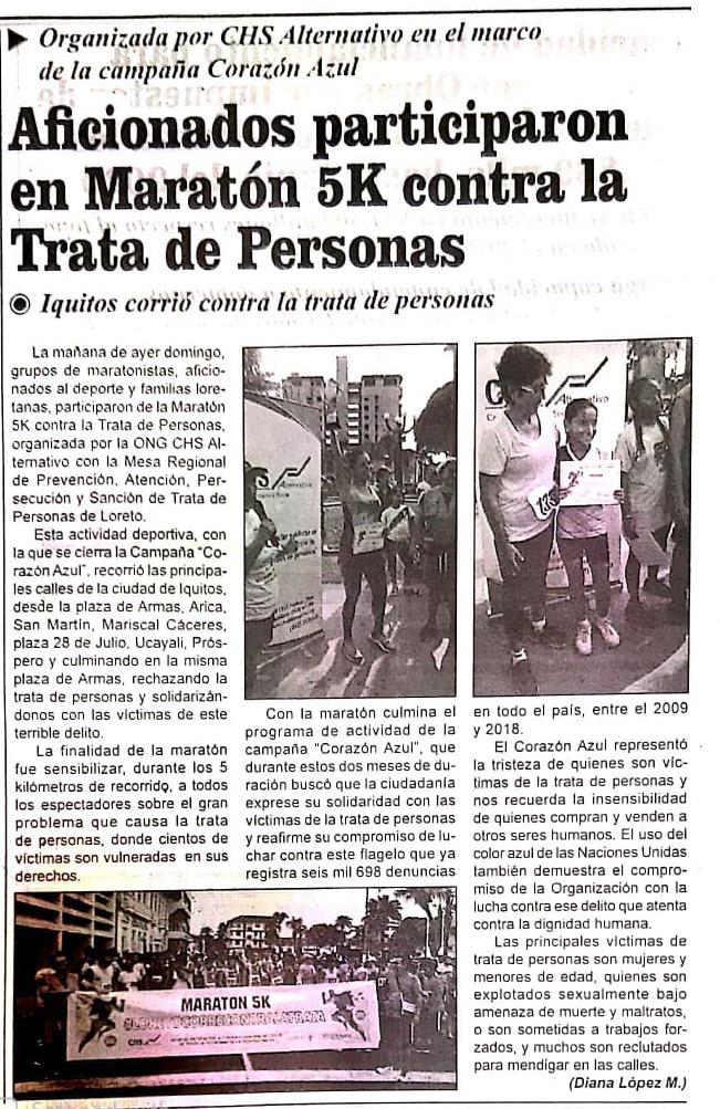 Aficionados participaron en Maratón 5K contra la trata de personas
