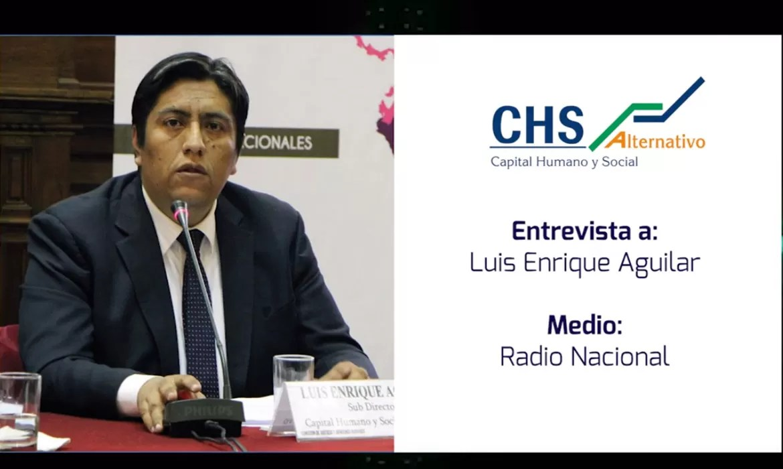 Luis Enrique Aguilar en Radio Nacional