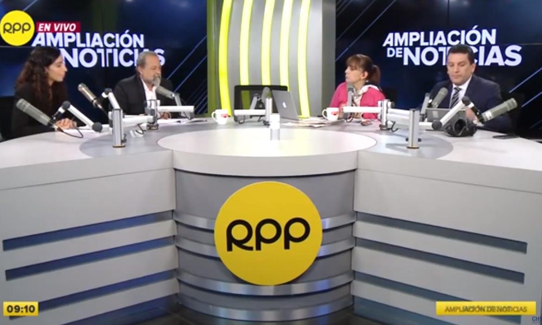 Ricardo Valdés y Silvia Nicolaou en Ampliación de Noticias (RPP)