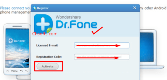 dr fone recover android data recovery registration code