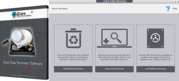 icare data recovery software professional