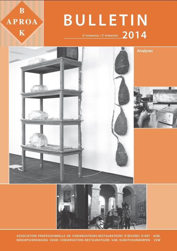Belgian Association of conservators Bulletin, 2nd Trimester, 2014