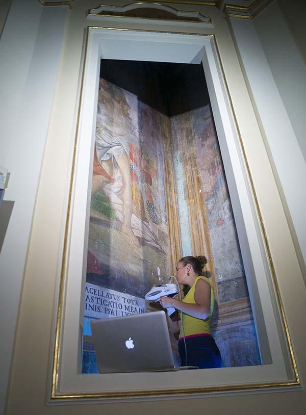aci sant'Antonio frescoes XRF